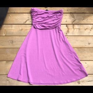Ann Taylor Purple Strapless Dress Size M